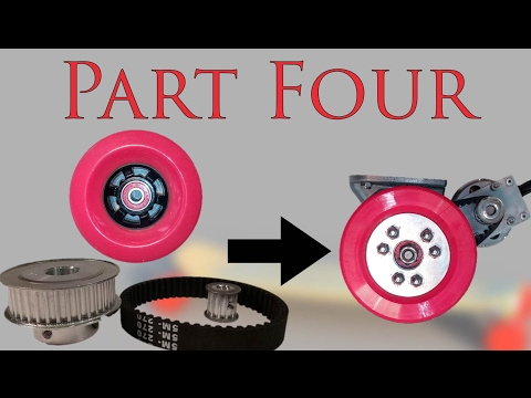 PART 4 - How to make Electric longboard - Wheel Assembly