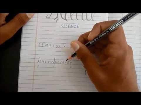 Ambigram Design tutorial 4- Multi-word Ambigrams