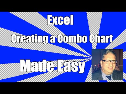 How to create a combo chart in Excel 2010, 2013, 2016 tutorial 2 axis chart column - line chart