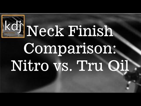 Neck Finish Comparison - Nitro vs. Tru Oil