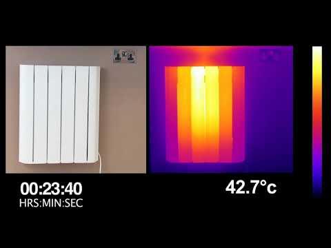 Thermal Imaging of the MYLEK Smart Clever Radiators