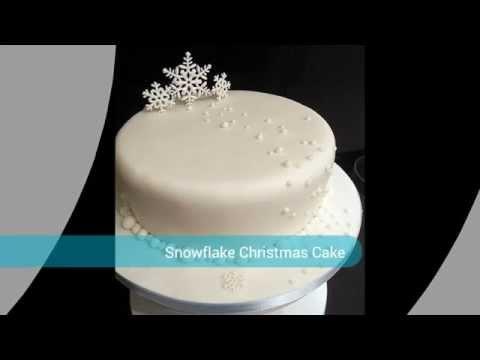 Snow Christmas Cake