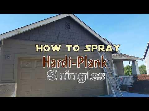 How to Spray Paint Hardi-Plank Shingle Siding.