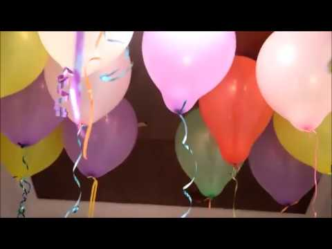 DIY balloon decoration for kids birthday party at home