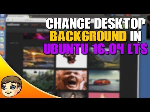 How to change your desktop background in Ubuntu 16.04 // Ubuntu 16.04 Tips & Tricks