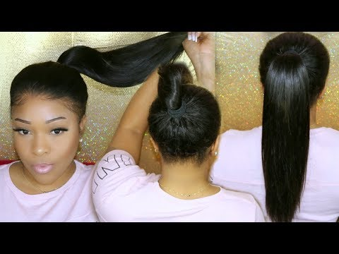 Back Of Lace Wig Install | Glueless Ponytail Front & Back 360 Lace Front Wig | ChinaLaceWig