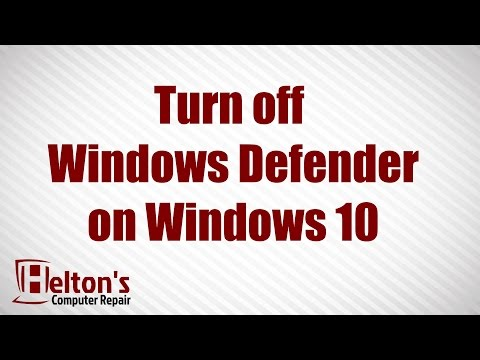 How to Turn On or Off Windows Defender in Windows 10