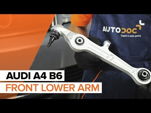 How to replace front lower arm on AUDI A4 B6 TUTORIAL   AUTODOC