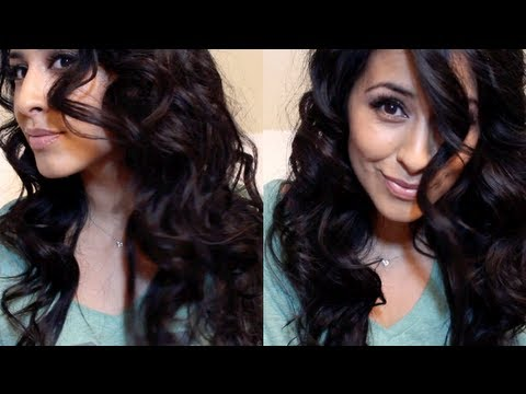 Sexy heatless curls! Video response to Andreaschoice!