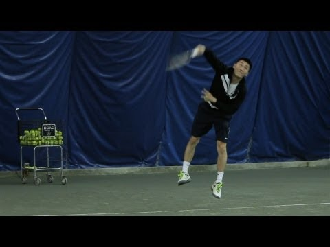 How to Serve Faster   Tennis Lessons