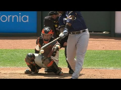 Carter hits the ball twice and breaks his bat