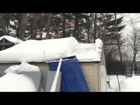 Home made roof snow removal tool