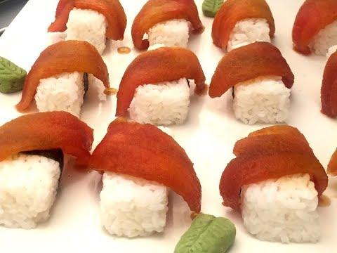 Sushi de salmón vegetal