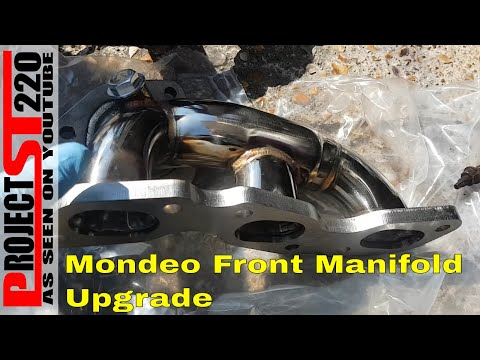 How to remove front manifold/cat converter/flexi on a Ford Mondeo MK3 Project ST220