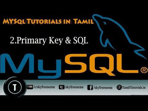 MYSQL Tutorials in Tamil 2  Primary Key & SQL