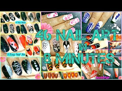 Simply 46 Nail Art Tutorials in 8 Minutes