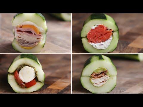 Cucumber Subs 4 Ways