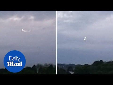 Shocking moment 'UFO' spotted hovering near High Wycombe RAF base - Daily Mail