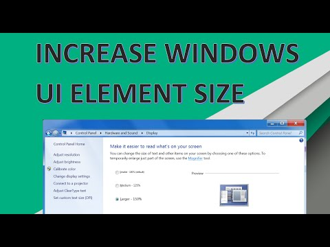 Make The Taskbar , Start Menu And Icons Bigger In windows (Increase Scaling)