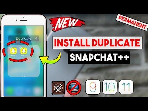 New Install Duplicate Snapchat++ (PERMANENT) Free (NO JAILBREAK/COMP) (iOS 11/10/9) iPhone/iPod/iPad