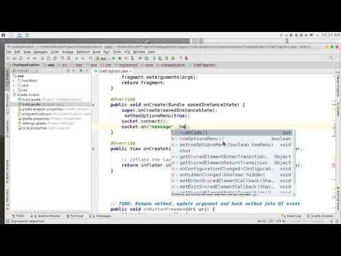 231 Android Studio Chat network JSON NodeJS JavaScript