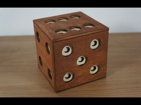 The Dice puzzle box 29 steps and two compartments
