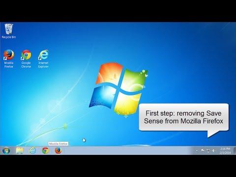 How to uninstall SaveSense (Mozilla Firefox, Internet Explorer)