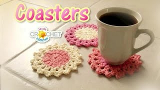 Crochet Drink Coaster Pattern  - How To Crochet A Classic Round Motif