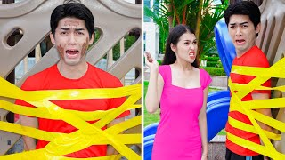 Lucky VS Unlucky | 9 Funny and Awkward Moments - People with Bad Luck and Funny Fails Video By T-FUN