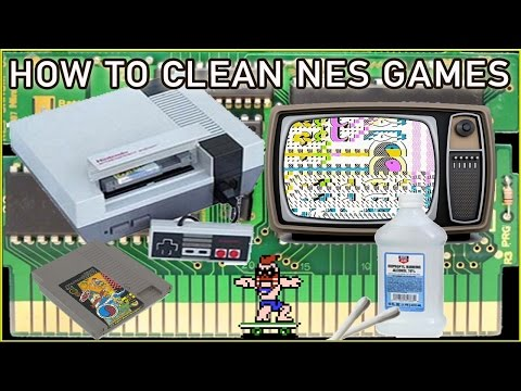 How to fix & clean nes games that flash blink red on and off