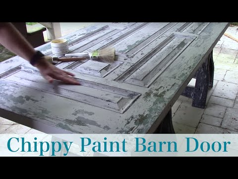 How to: Chippy Paint Technique