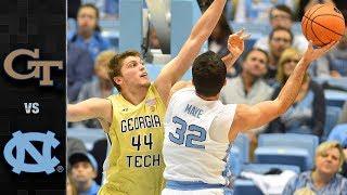 Georgia Tech vs. North Carolina Basketball Highlights (2017-18)