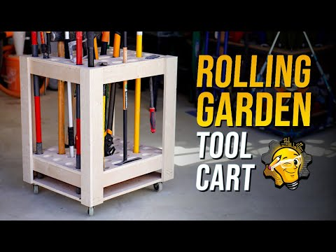 How To: Build a Rolling Gardern Tool Storage Cart