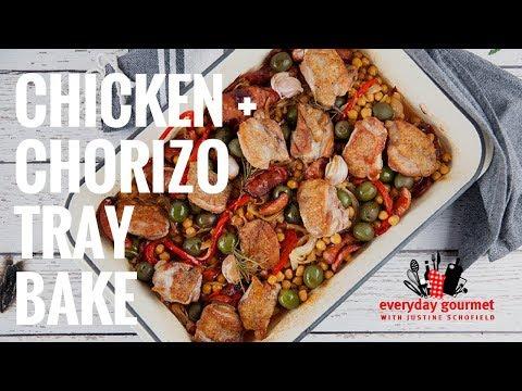 Chicken & Chorizo Tray Bake   Everyday Gourmet S7 E72