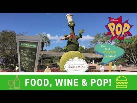 Epcot Food & Wine Festival, Muppets & Refurbished Room At Pop Century!