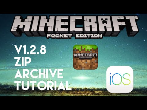 Minecraft Pocket Edition - v1.2.8 - How to Download Zip Files to Minecraft PE iOS