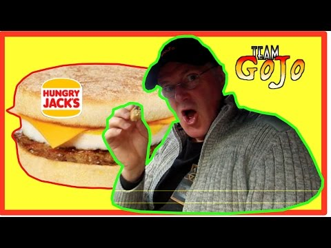 Hungry Jacks (Burger King) Sausage Egg & Cheese Muffin (Biscuit) - Taste Test