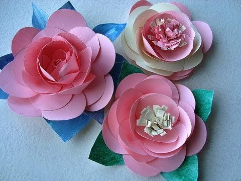 DIY paper flower Water Lily for wall backdrop decoration arts and ... | 360x480