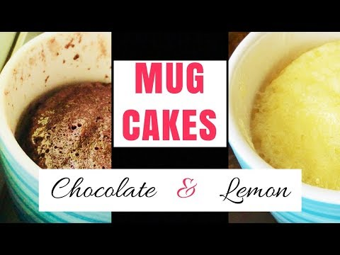 MUG CAKES in less than 2 minutes in Microwave / No milk, No Baking powder