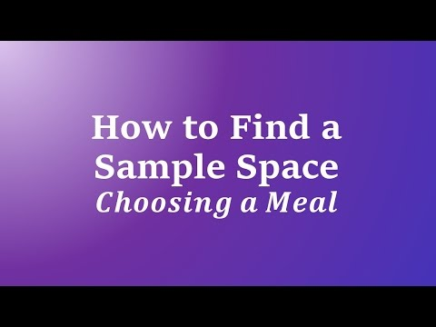 How to Find a Sample Space: Choosing a Meal