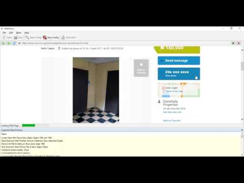 Scraping Olx.com.ng for Phone numbers using Webharvy
