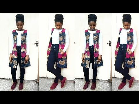 How to: Make a LINED OPEN JACKET with POCKETS using AFRICAN PRINT FABRIC (ANKARA)