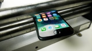 What Happens If You Squash iPhone 7 in a Metal Roller?