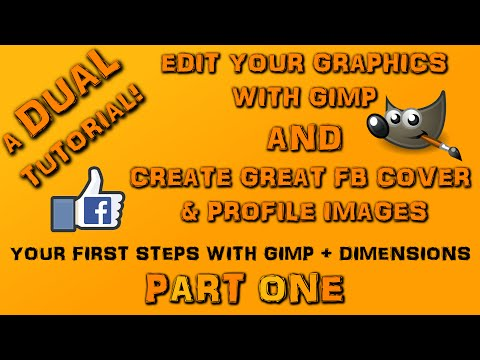 Facebook Timeline Cover and Profile Image Tutorial - Using Gimp - Part 1