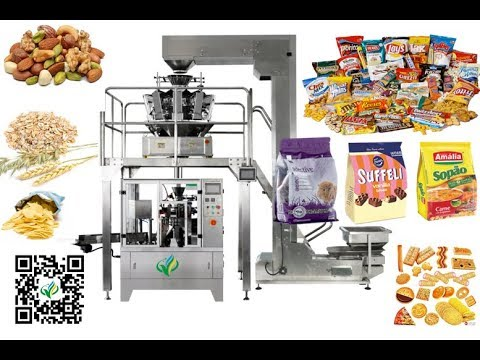 standing pouch filling sealing machine for dried fruit  stand-up bag with zipper doypack machines