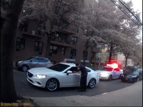 NYPD 110Pct. Officers Illegally writing Bougus Tickets for Vehicle Tint without
