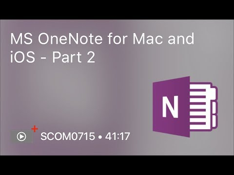 SCOM0715 - MS OneNote for Mac and iOS - Part 2 - Preview