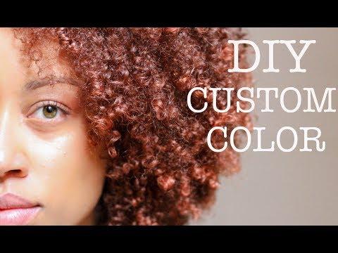 How To Get Custom Ginger Hair Color | Box Dye | Creme of Nature