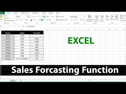 How to Use Sale Forecast Function in MS Excel