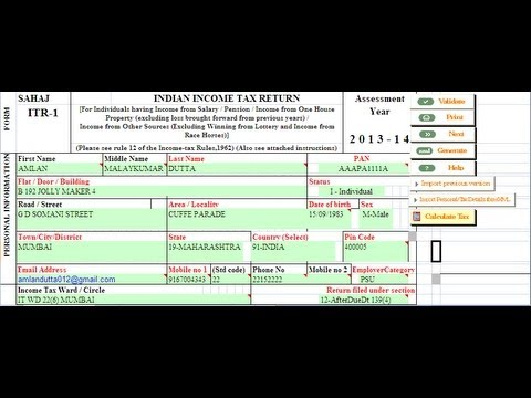 15(Hindi) How to use Form 26 AS instead of Form 16A to file online Return
